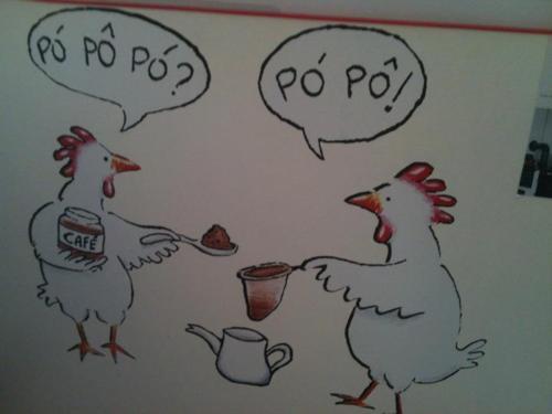 Ok! Vamos combinar que as galinhas tentaram nos fazer rir...