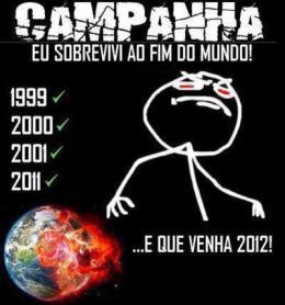 Campanha eu sobrevivi ao fim do mundo