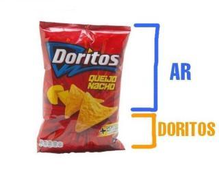Queria anunciar que estao vendendo sacos com alguns Doritos dentro.
