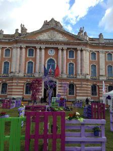 Praça do Capitole (Toulouse - França) - uma das praças onde me apresentei