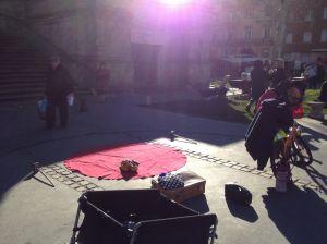 Marchê St. Aubin - Preparaçao do meu pequeno e mais célebre espetaculo O Circo de um Homem So - Primeira Parte