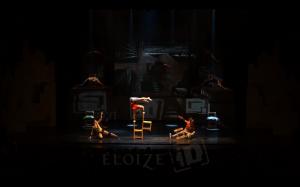 Foto do espetáculo ID, do Cirque Eloize, uma filial do Cirque du Soleil